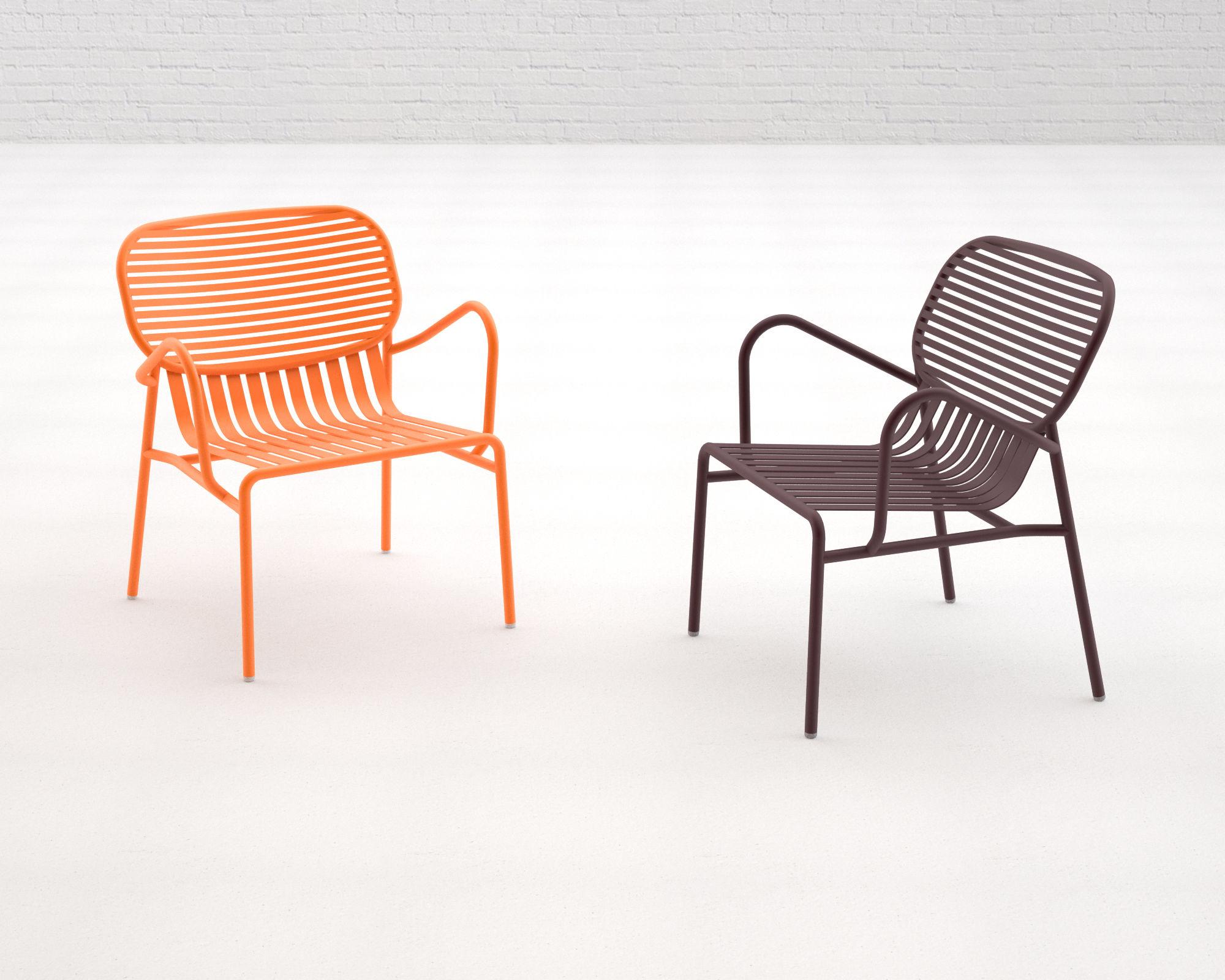 week end low armchair metal navy blue by oxyo. Black Bedroom Furniture Sets. Home Design Ideas