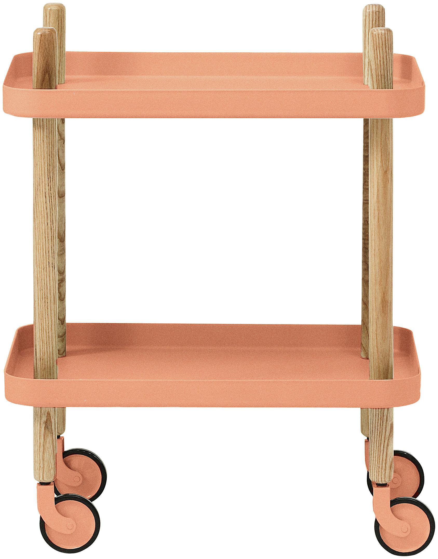 Scopri carrello tavolo d 39 appoggio block su ruote for Tavolo d appoggio