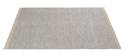 Foto Tappeto PLY / 200 x 300 cm - Tessuto a mano - Muuto - Bianco,Nero - Tessuto