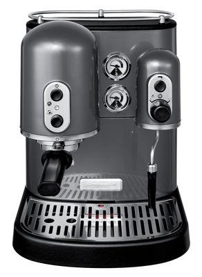 Cafetière expresso Artisan Pour dosettes et café moulu KitchenAid gris métal en métal