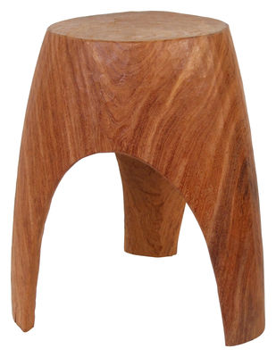 Furniture - Stools - 3 Legs Stool by Pols Potten - Natural wood - Wood