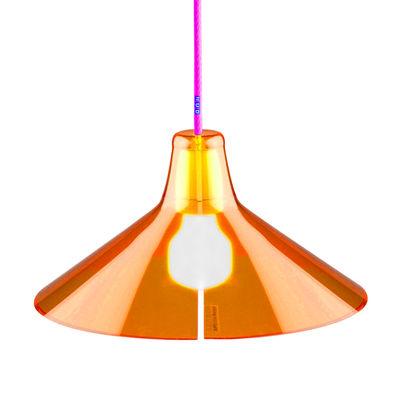 Abat-jour Jupe Large Ø 31 cm - Skitsch orange en matière plastique