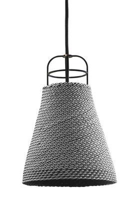 Suspension Sarn 2 / Ø 18 cm - Palme tressée - Spécimen Editions Gris en Rotin & fibres
