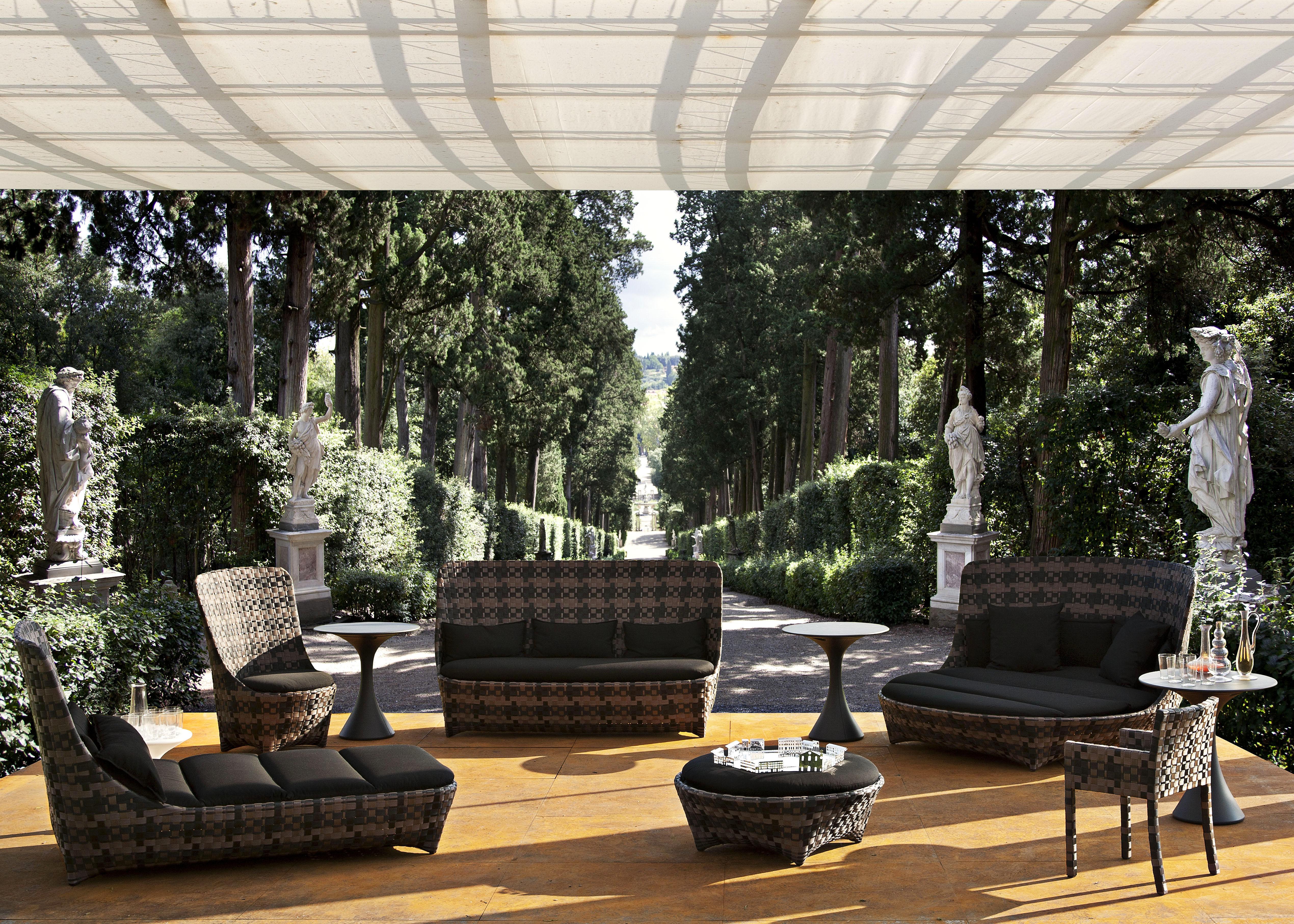 Cape west reclining chair sunbath white grey by driade for Arredo esterno design