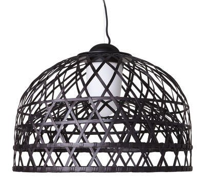 Illuminazione - Lampadari - Sospensione Emperor - Small di Moooi - Ø 60 cm - Nero - Alluminio, Midollino