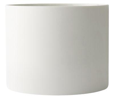 Pot de fleurs Cylindrical Large / Argile - H 16 x Ø 20 cm - Menu blanc en céramique