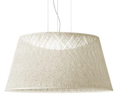 Luminaire - Suspensions - Suspension Wind / Ø 60 x H 30 cm - Vibia - Blanc - Fibre de verre, Méthacrylate