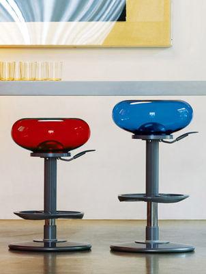 tabouret haut r glable mambo jaune transparent delight. Black Bedroom Furniture Sets. Home Design Ideas