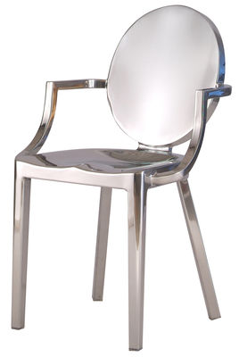 Furniture - Chairs - Kong Armchair - Aluminium by Emeco - Polished aluminium - Polished aluminium