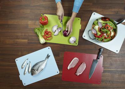 food station 4er set joseph joseph schneidebrett. Black Bedroom Furniture Sets. Home Design Ideas