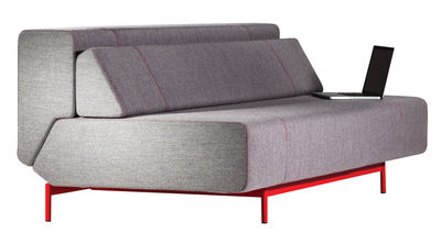 canap convertible pil low 3 places l 200 cm gris pi tement rouge prostoria ltd. Black Bedroom Furniture Sets. Home Design Ideas