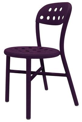 Chaise empilable Pipe Métal Magis prune en métal