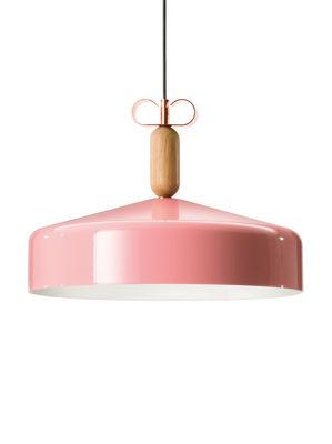 Suspension Bon Ton / Ø 45 cm - Exclusivité - Torremato rose,cuivre,chêne naturel en métal