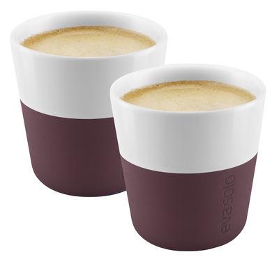 Tasse à espresso / Set de 2 - 80 ml - Eva Solo bordeaux en céramique