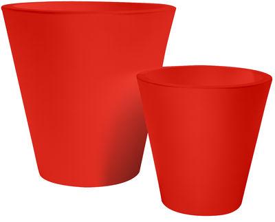 Pot de fleurs New pot H 50 cm - Serralunga rouge en matière plastique