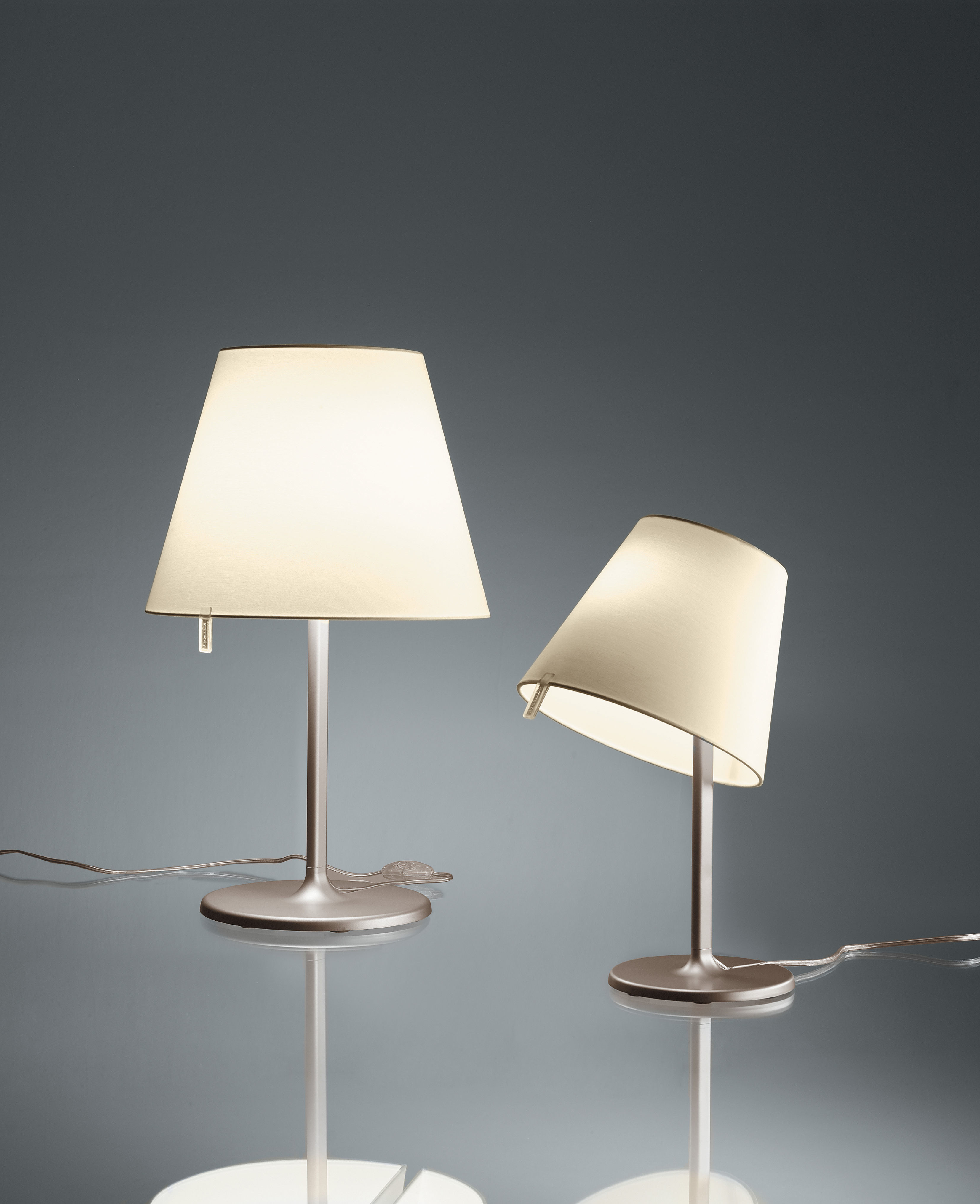 Melampo tavolo table lamp h 81 cm leg bronze diffuser for Table induction 71 x 52