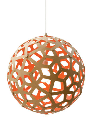 Coral pendant 40 cm two coloured peach natural wood by lighting pendant lighting coral pendant 40 cm two coloured mozeypictures Image collections