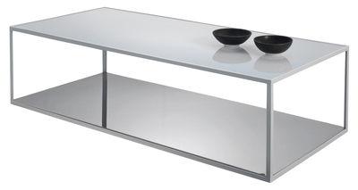 Tavolini In Vetro E Acciaio : Tavolino da salotto girevole in vetro e acciaio arredamento e