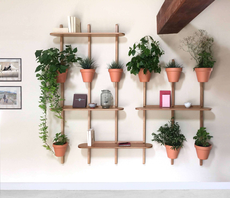 support mural xpot pour 4 pots de fleurs ou tag res h 200 cm blanc compagnie. Black Bedroom Furniture Sets. Home Design Ideas