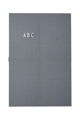 Tableau memo A3 L 30 x H 42 cm Design Letters gris foncé en matière plastique
