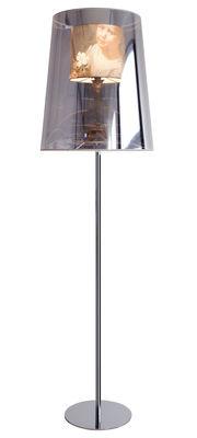 Lighting - Floor lamps - Light Shade Shade Floor lamp - Ø 52 cm by Moooi - Mirror & golden - Chromed steel, Copper, Cotton, Plastic material