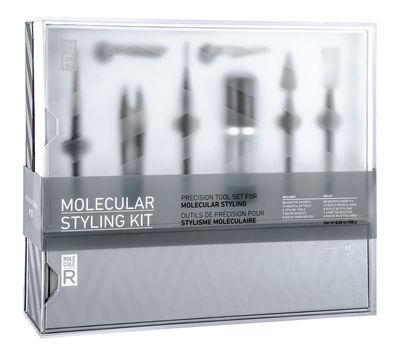 Accessoires - Livres et DVD - Kit cuisine moléculaire Molecular Styling Kit / 19 ustensiles + 2 DVD + 1 livre + 4 additifs - Molécule-R - Version bilingue français / anglais - Acier, Plastique