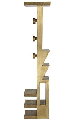 Mobilier - Portemanteaux, patères & portants - Portemanteau Mass / H 200 cm - Tom Dixon - Laiton - Bois plaqué laiton