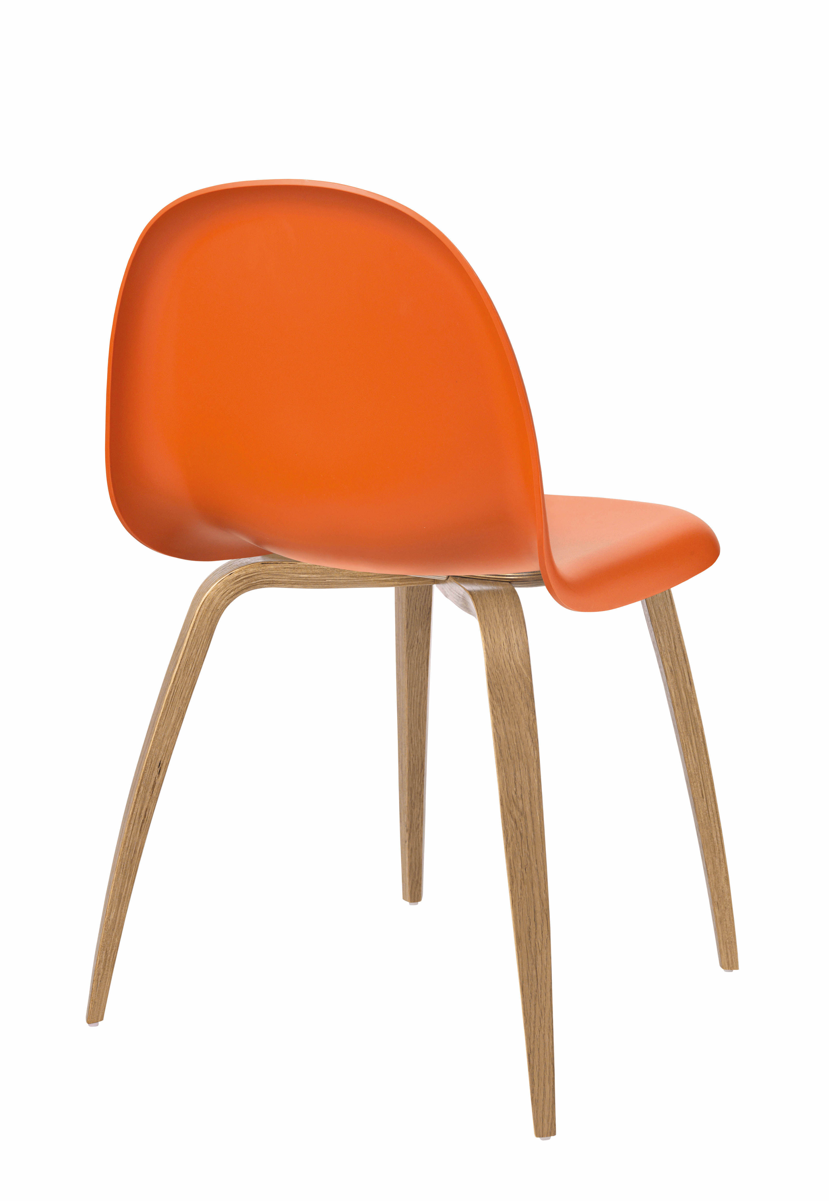 Chaise Coque Plastique Pied Bois - Chaise Gubi 5 Coque plastique& pieds bois Coque orange Pi u00e8tement ch u00eane Gubi
