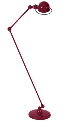 Lampadaire Loft / 2 bras articulés - H max 160 cm - Jieldé bourgogne brillant en métal