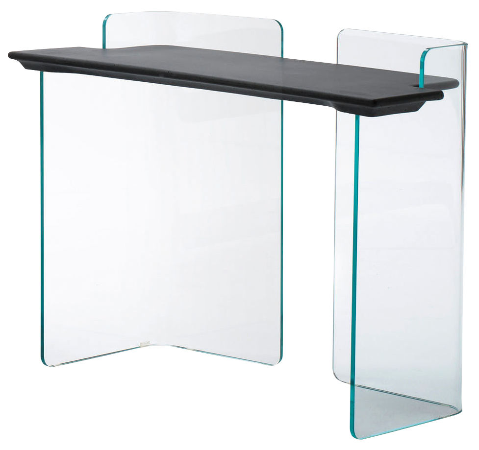 bureau highline console l 110 cm transparent b ton anthracite glas italia. Black Bedroom Furniture Sets. Home Design Ideas