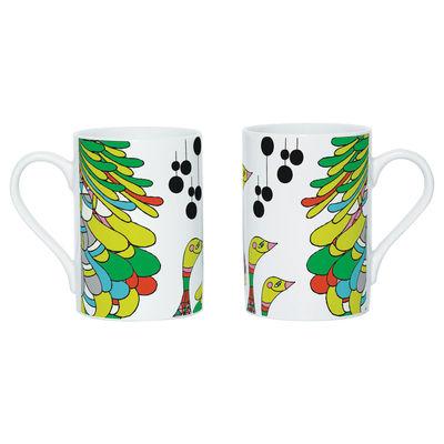 Tableware - Coffee Mugs & Tea Cups - Say Cuak Cuak Mug - Screen printed mug by Domestic - White & multicoloured - China