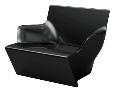 Poltrona Kami San - versione laccata di Slide - Laccato nero - Materiale plastico