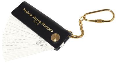 Porte clés répertoire Maison Martin Margiela noir,doré en cuir