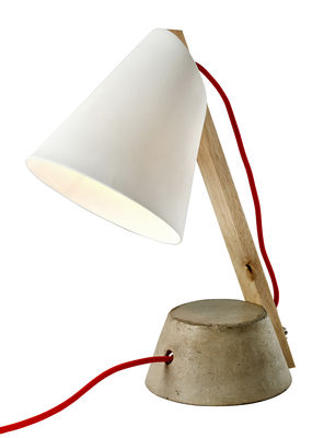 52 weeks table lamp concrete and porcelain concrete for 52 week table