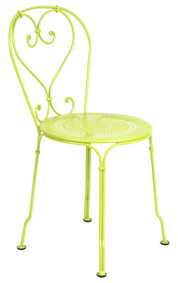 Chaise empilable 1900 / Métal - Fermob verveine en métal