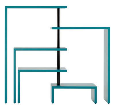 Foto Libreria Joy modulabile / 5 mensole - H 132 cm - Zanotta - Petrolio - Metallo Libreria estensibile