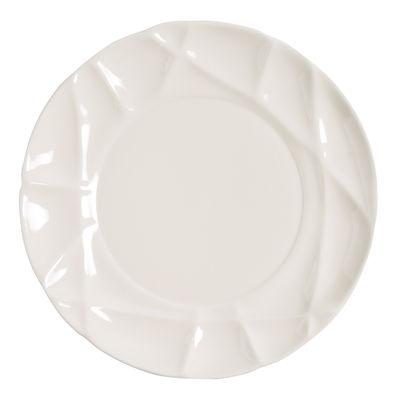 Assiette Succession Ø 26 cm Porcelaine Fait main Petite Friture blanc en céramique
