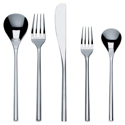 Image of Set di posate Mu - / Set 5 pezzi di Alessi - Metallo lucidato - Metallo