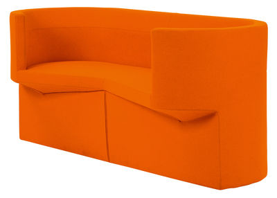 Canap droit odin 2 places l 160 cm tissu orange classicon - Canape 2 places 160 cm ...