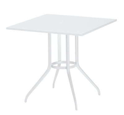 Jardin - Tables de jardin - Table InJoy / 80 x 80 cm - Play with Dedon - Blanc - Aluminium