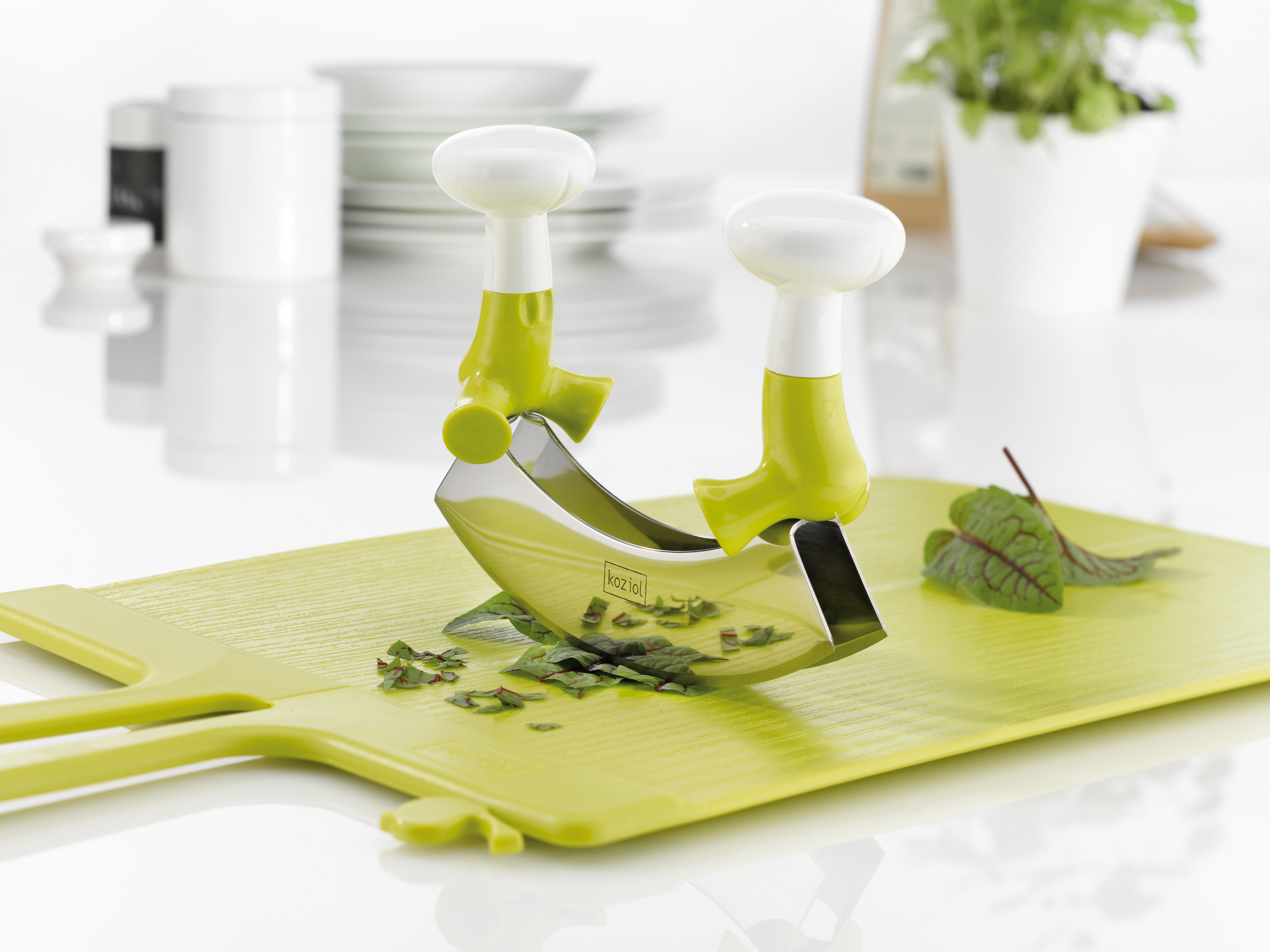 The herby brothers tritatutto mostarda by koziol made in for Utensili cucina design