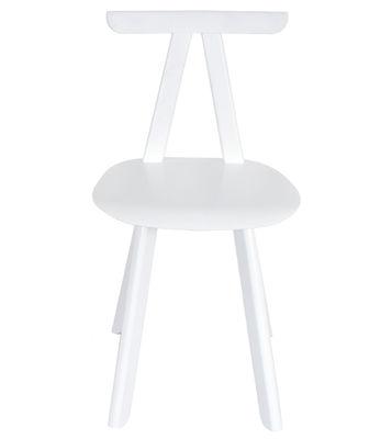Chaise Juka / Chêne massif - ENOstudio blanc en bois