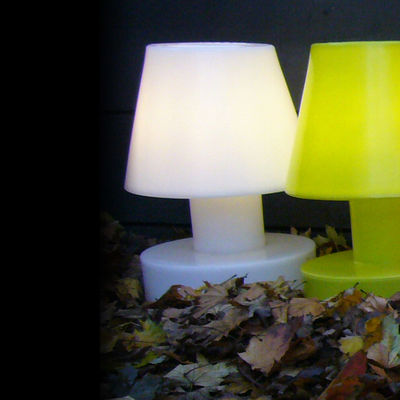 Foto Lampada senza fili - Portatile senza filo ricaricabile - h 56 cm di Bloom! - Bianco - Materiale plastico
