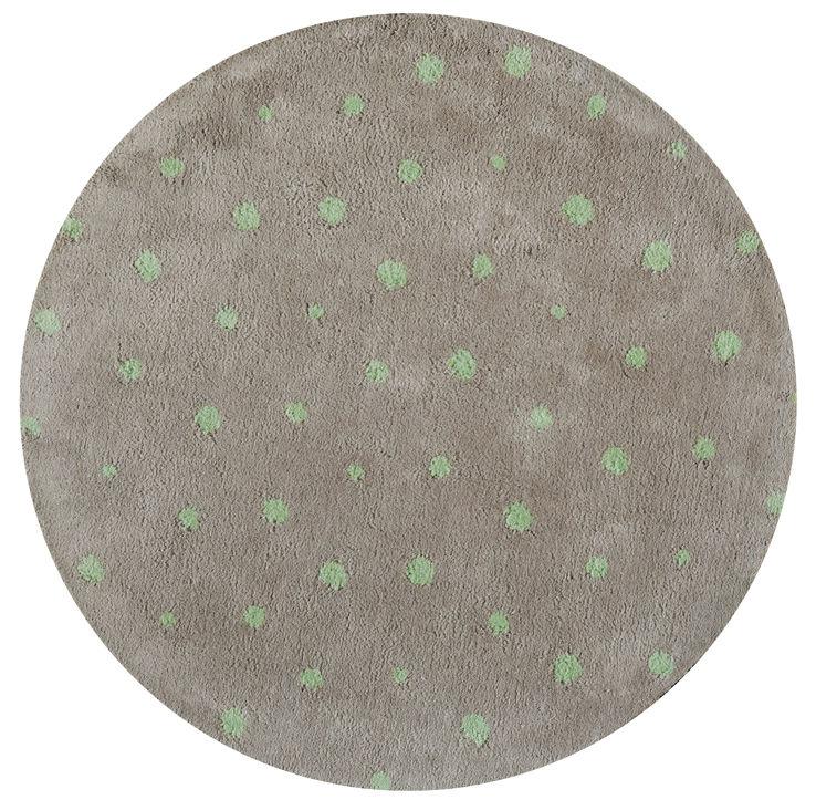 Tapis clafoutis 100 cm taupe anis toulemonde - Made in design tapis ...