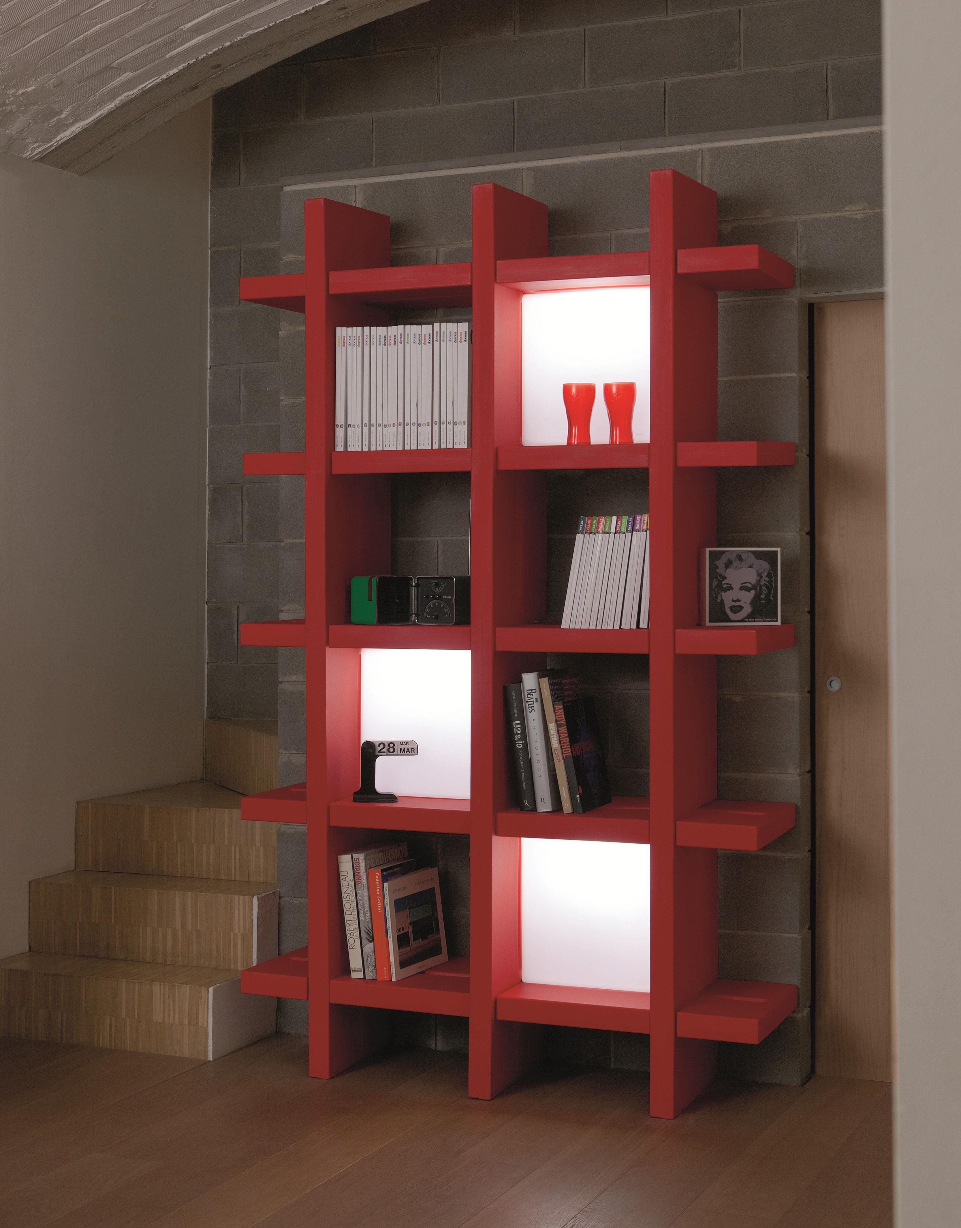 lampe quadro cube lumineux 40 x 40 cm pour biblioth que blanc slide. Black Bedroom Furniture Sets. Home Design Ideas
