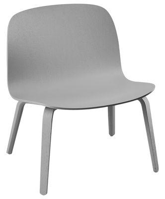 Poltrona bassa Visu - / Seduta H 35 cm di Muuto - Grigio - Legno