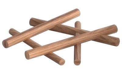 Dessous de plat Camp Fire / Chêne massif - Ø 25 cm - Spécimen Editions bois naturel en bois