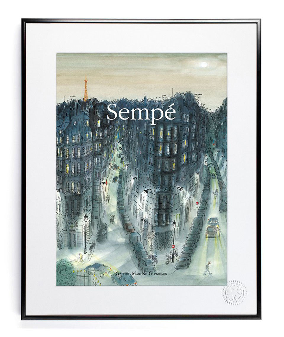 sempe quartier nuit poster 40 x 50 cm night area by image republic made in design uk. Black Bedroom Furniture Sets. Home Design Ideas