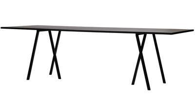 Table Loop / L 200 cm - Hay noir en métal