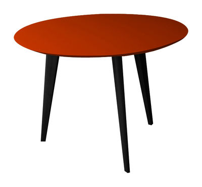 Table Basse Lalinde Large 55cm Pieds Noirs Rouge